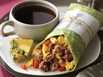 Beef Sausage Breakfast Burritos