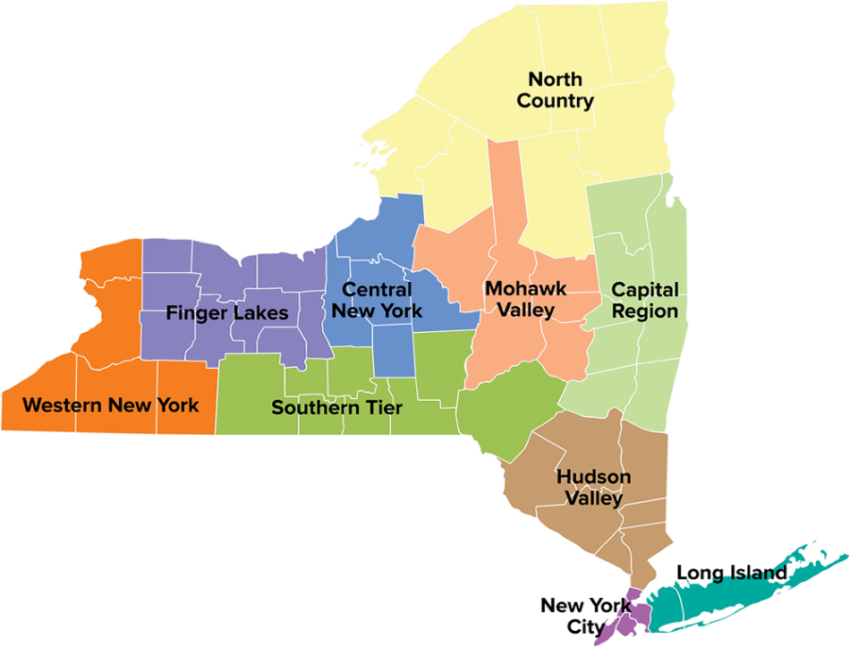 Map Of Southern New York.New York
